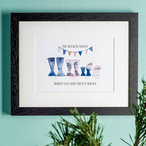 Personalised Welly Boot Family Print - shop by price