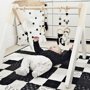 Monochrome Wooden Baby Play Gym