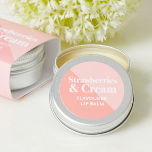 Strawberries And Cream Flavour Lip Balm - new gifts for her