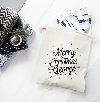 Personalised Name Christmas Eve Sack