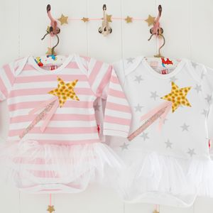 Fairy Wand Applique Tutu Bodysuit