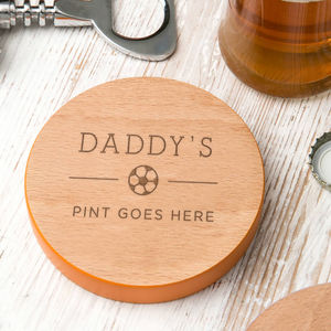Dads Favourite Hobby Drinks Coaster - personalised