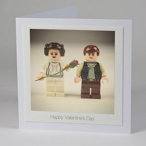 Lego Princess Leia And Han Solo Card