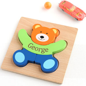 Personalised Teddy Puzzle - traditional toys & games
