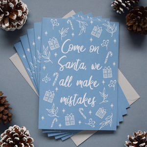 We All Make Mistakes Santa Christmas Card Or Pack