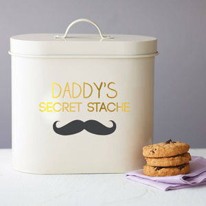 Personalised Stache Storage Tin - tins, jars & bottles