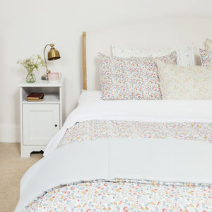 Liberty Print Duvet Set In Betsy Double And King - bedroom