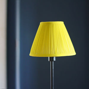 Citron Chiffon Gathered Lampshade - lamp bases & shades