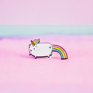 30mm Rainbow Unicorn Enamel Pin Brooch