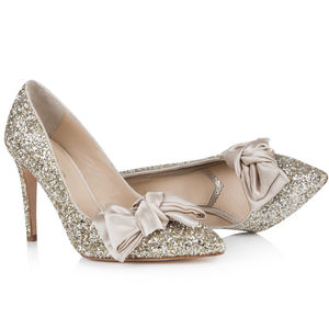 Bonita Sparkly Court Shoes - wedding fashion