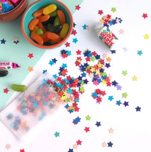 Rainbow Table Confetti Star Shaped