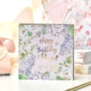 Happy Birthday Mum Botanical And Gold Greeting Card