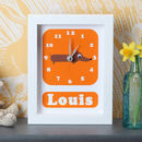 Personalised Sausage Dog Clock
