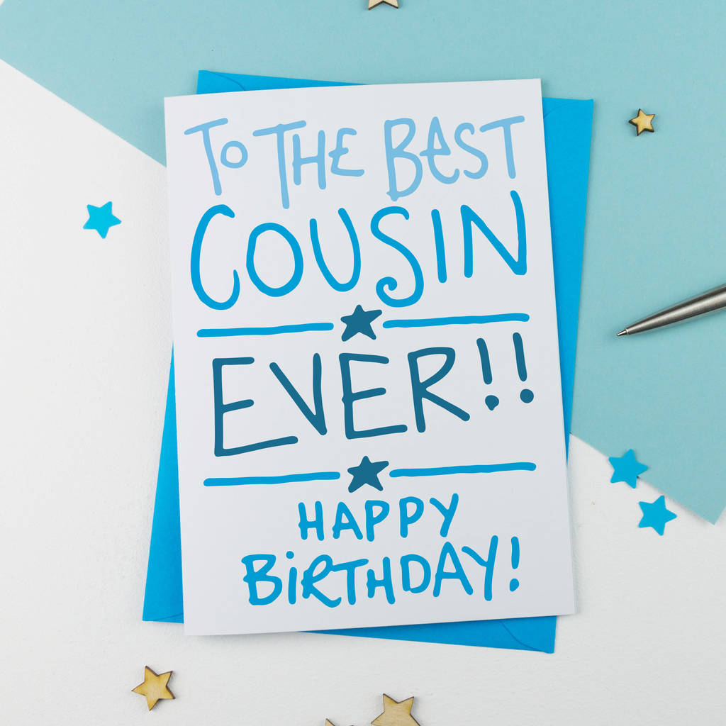 cousin birthday card by a is for alphabet – Birthday Cards Cousin