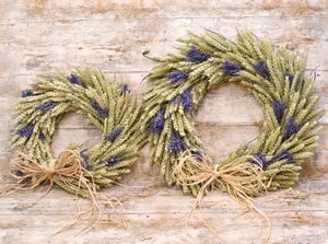 Lavender Wheat Wreath - room decorations