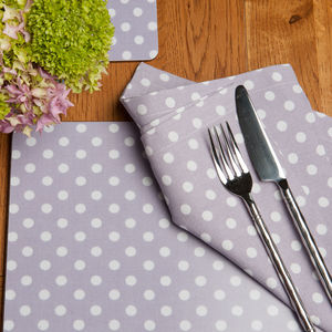Madelaine Lavender Set Of Four Placemats