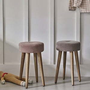 Cadby Velvet Button Stool
