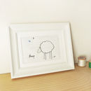 Embroidered Linen 'Sheep' Picture
