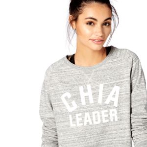 Chia Leader Sweatshirt, Grey And White