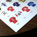 Manchester Utd Classic Kits Print Close Up