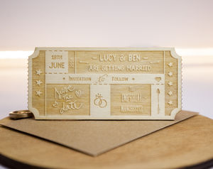 Personalised Wooden Ticket Save The Date - view all sale items