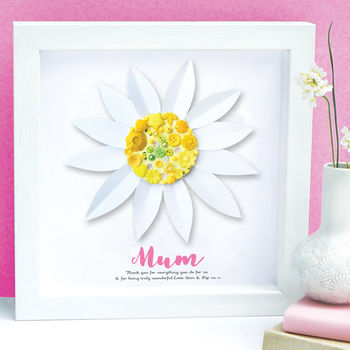 Personalised Mother's Day Daisy Framed Art