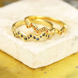 Flash Rings With Sapphires