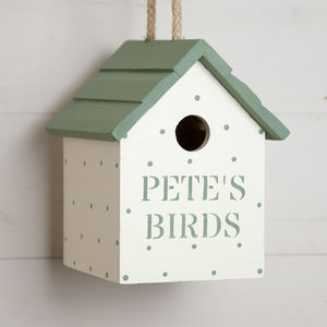 Personalised Spotty Birdhouse - new in garden