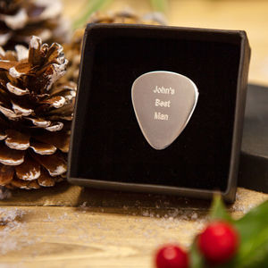 Personalised Sterling Silver Plectrum - accessories gifts for ushers