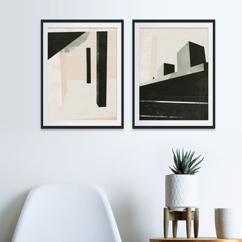 New York Subway And High Line Art Prints Set Of Two