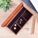 'The Man, The Myth, The Legend' Leather Cufflink Box