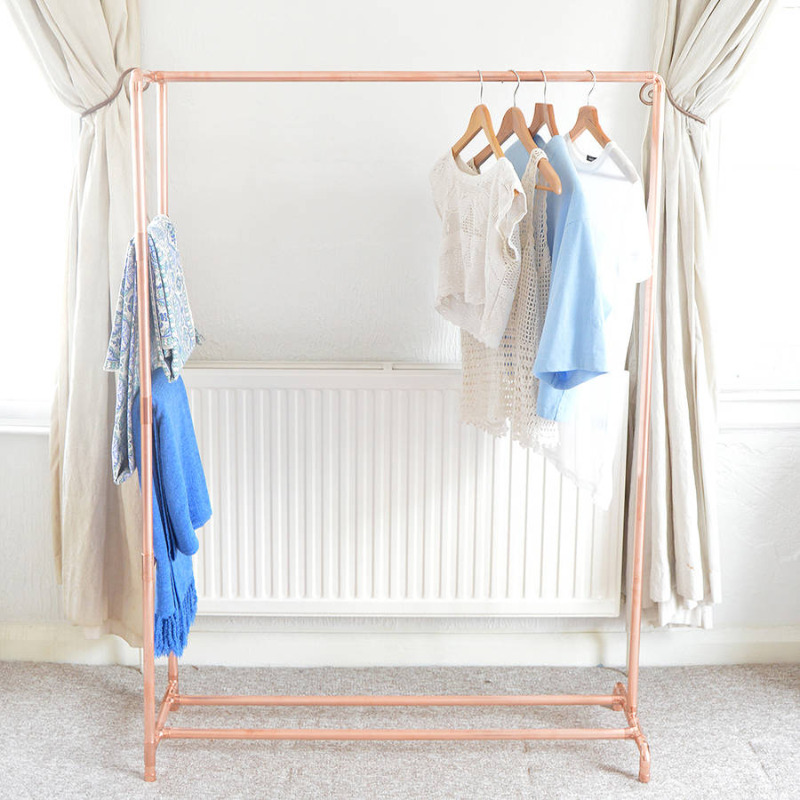 Copper Pipe Clothing Rail With Display Ladder By Little