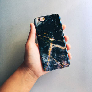 Navy Marble iPhone Case - stocking fillers