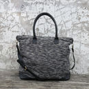 Fairtrade Handwoven Weekender Bag With Leather Trim