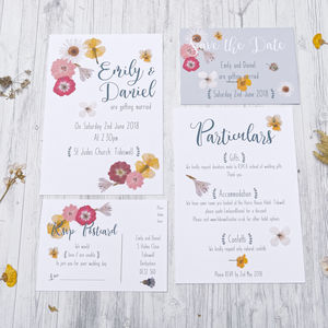 Pressed Flower Wedding Stationery Range