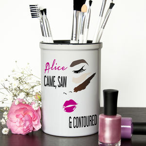She Came, She Saw, She Contoured ! Make Up Brush Holder - pots & bowls