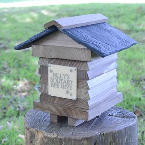 Personalised Solitary Bee Hive House - garden sale
