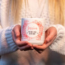 Personalised Valentines Heart Handle Mug