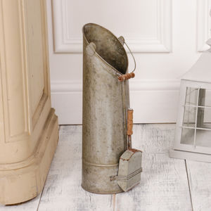 Zinc Coal Bucket And Shovel - home accessories