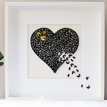 Butterfly Memorial Wall Art, Heart Memorial Picture