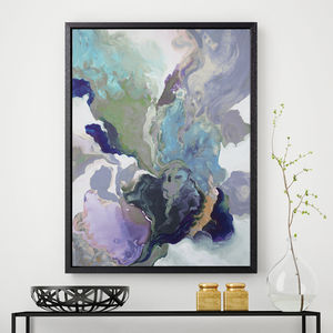 'Ebony Swirl' Framed Giclée Abstract Canvas Print Art - modern & abstract