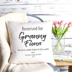 Reserved For Granny Personalised Cushion Cover
