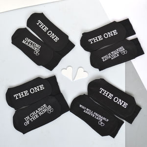 Alternative Personalised Wedding Socks