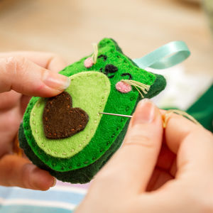 Avocado Cat Keyring Craft Kit