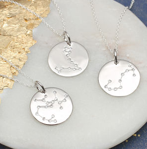 Sterling Silver Personalised Constellation Necklace