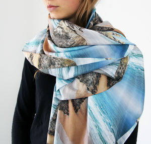 Bedruthan Surf Silk Scarf - hats, scarves & gloves