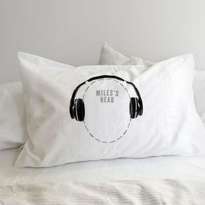 Headphones Pillowcase For Music Lovers Headcase Range - gifts for teenage boys