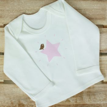 Pink Star Long Sleeve T Shirt