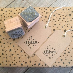 Scattered Star Name Stamp - finishing touches