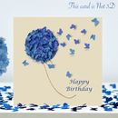 Happy Birthday Butterfly Hydrangea Card